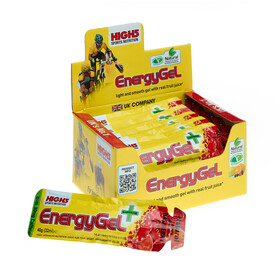 High5 EnergyGel Plus - Nutrition sport - Raspberry 20 x 40g